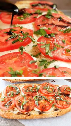 A simple recipe for Caprese Garlic Bread is this makeover caprese garlic bread meals! Its crusty cheesy garlicky buttery tomatoey basil and a bit vinegary. The best garlic bread you will ever eat! Save this recipe now! Vegetarian Recipes, Healthy Recipes, Garlic Recipes, Beach Food Recipes, Butter Nut Squash Recipes, Recipes For Lunch, Healthy Flatbread Recipes, Fine Cooking Recipes, Damn Delicious Recipes