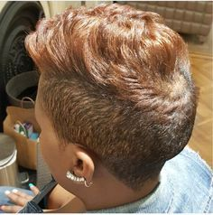 Best Natural Hair styles That Are Gorgeous. Cute Hairstyles For Short Hair, My Hairstyle, Girl Hairstyles, Latest Hairstyles, Short Sassy Hair, Short Hair Cuts, Short Hair Styles, Tapered Hair, Relaxed Hair