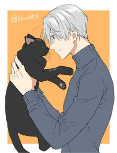 Yuri on ice, Victor Nikiforov and cat