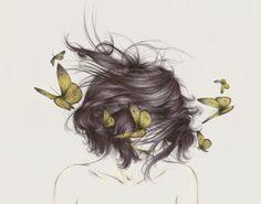 """""""Sueño de la mariposa"""" Chuang Tzu soñó que era una mariposa. Al despertar ignoraba si era Tzu que había soñado que era una mariposa o si era una mariposa y estaba soñando que era Tzu. (Chuang Tzu) Ilustración The White Deers"""