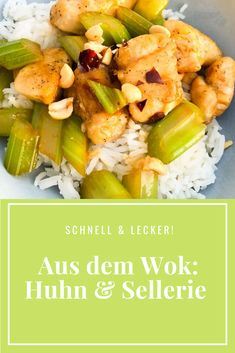 Woktastisch! Chinesisches Huhn mit Sellerie Weeknight Meals, Easy Meals, Foodblogger, Japan, Cooking, Indian, Chinese Chicken, Chinese Recipes, Chicken Stir Fry