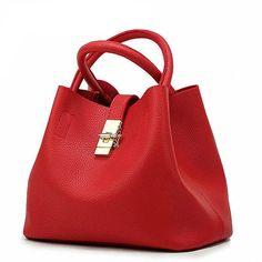 Famous Fashion Brand Candy Shoulder Bags Ladies Totes Simple Trapeze Women Messenger Bag