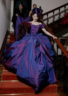 dark purple and black