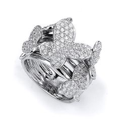 CloseoutWarehouse Heart Shaped Clear Cubic Zirconia Bow Tie Rope Ring Sterling Silver