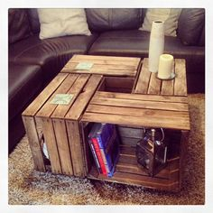 Crate Coffee Table by JBWoodDesign on Etsy, £139.00