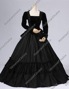 High Quality Civil War Dress Victorian Velvet Gown 2PC Suit Reenactment Theatre Quality Costume