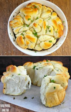 Garlic Herb Butter Rosette Bread - Easy Peasy and Fun