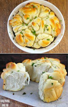 Alho Manteiga de Ervas Rosette pão - delicioso separar receita do pão