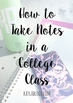 Hack your class notes! Try these simple tips to make notetaking easier and more organized. This post is all about how I take notes in college and what you can do to earn yourself a better grade in a college class! College Success, College Notes, College Binder, College Planner, Studying In College, College Note Taking, Study College, College Notebook, Weekly Planner