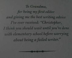 The Land of Stories by Chris Colfer | 26 Of The Greatest Book Dedications You Will Ever Read