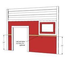 How to build a fire truck loft bed. Free step by step plans to build a fire engine loft bed. Ana White, Oaks Room, Fire Truck Bedroom, Tractor Bed, Kids Bed Design, Truck House, Loft Bed Plans, Truck Room, To Build A Fire