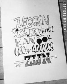 Spreuk van Loesje #handlettering Calligraphy Quotes Doodles, Hand Lettering Quotes, Calligraphy Video, Typography, Words Quotes, Me Quotes, Qoutes, Dutch Quotes, My Journal