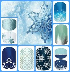 Nail wrap inspired from the movie Frozen. http://sleek.jamberrynails.net