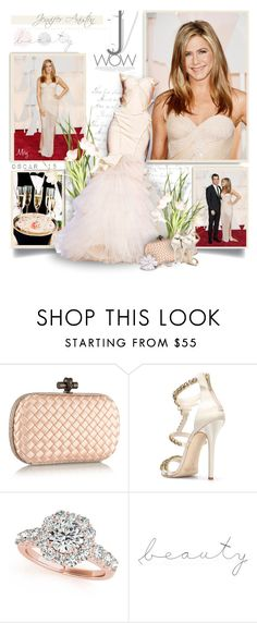 """Arrivals at the 87th Annual Academy Awards :Jennifer Aniston"" by thewondersoffashion ❤ liked on Polyvore featuring Zac Posen, Bottega Veneta, Oscar de la Renta, Allurez and WALL"