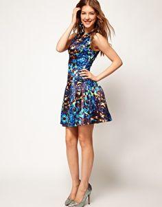 ASOS Prom Dress In Jewel Print, £95.00