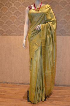 Pure Munga Tussar Silk Saree