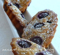 Financier ai mirtilli(Blueberry Financier)