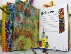 Ro Bruhn - some paper pages in my latest journal on Etsy