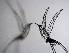 Hand made wire hummingbird sculpture por ZackMclaughlin en Etsy