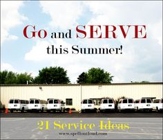 Summer Service ideas from Spell Outloud