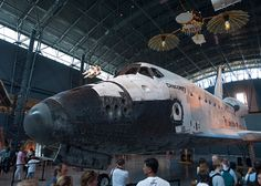 April 20, 2012. Space Shuttle Discovery on display in her new home inside the James S. McDonnell Space Hangar at the Steven F. Udvar-Hazy Center in Chantilly, VA. Photo credit: Dane Penland, Smithsonian National Air and Space Museum.