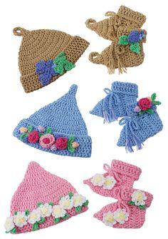 Baby Essentials Booties Afghan Newborn-3 mo Gourmet Crochet Pattern Leaflet NEW