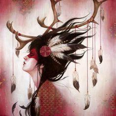 Red Caribou by Sylvia Ji