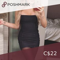 Shop Women's size 4 Mini at a discounted price at Poshmark. Navy Blue Dresses, Spaghetti Strap Dresses, Mini, Closet, Things To Sell, Style, Fashion, Swag, Moda