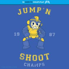 Jump n' Shoot By The Yetee, today at The Yetee!