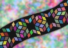 Peyote Stitch Graph Paper | ... Diamonds bracelet - Peyote / Brick Stitch graph INSTANT DOWNLOAD PDF
