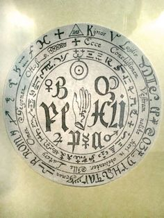 Magical sigil from the  Faust Museum Knittlingen, Germany.