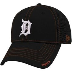 a2bf2242 New Era Detroit Tigers Navy Blue Neo 39THIRTY Stretch Fit Hat Detroit  Tigers Hat, Mens