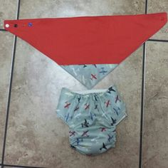 Cloth diaper and matching bandana  bib Not Old Lady Sewing  Please check out my Facebook group to order custom made items. https://www.facebook.com/groups/111993582485752/