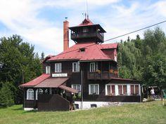 Malá Prašivá Turistická chata Prašivá Chata, Cabin, House Styles, Home Decor, Decoration Home, Room Decor, Cabins, Cottage, Home Interior Design