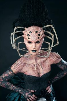 Professional Alien SFX Makeup idea and prosthetics / Paired with blackout FX contacts ~ http://www.pinterest.com/pin/350717889705707881/