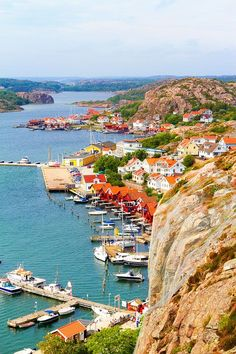 Fjallbacka, a colourful fishing Village along the west coast of Sweden. **
