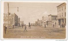 RP: Main Street [dirt] , WATROUS , Saskatchewan , Canada , 00-10s Main Street, Street View, Saskatchewan Canada, Sales Image, Original Image, Postcards, Maine, America, Usa