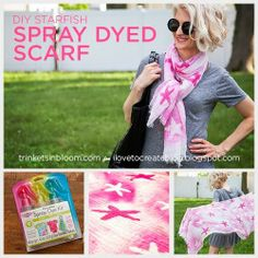 DIY Starfish Spray Dyed Scarf