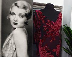 1920s Dress, Retro Dress, Burn Dressing, Front Knot Dress, Art Deco Dress, Bias Cut Dress, Cowl Neck Dress, Black Velvet Dress, Embellished Dress