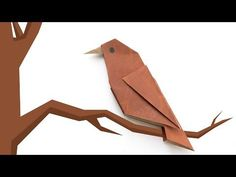 Origami bird. Simple origami for beginners - YouTube
