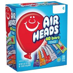 Airheads Candy Bars, Variety Halloween Bulk Box, Chewy Full Size Fruit Taffy, for sale online Bulk Candy, Free Candy, Chewy Fruit Candy, Airheads Candy, Taffy Candy, Easter Candy, Easter Eggs, Halloween Candy, Halloween Goodies