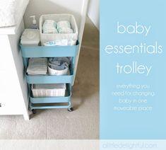 ikea raskog baby essentials trolley for nappy / diaper changing