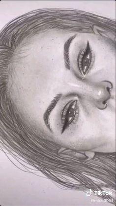 Art Drawings Beautiful, Art Drawings Sketches Simple, Pencil Art Drawings, Realistic Drawings, Beautiful Sketches, Portrait Sketches, Color Pencil Art, Art Sketchbook, Art Techniques