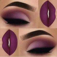 Lidschatten: Morphe Brushes Palette Glitter: Opv Eyelash Pressed Glitter L . - make up Ideen - Makeup Purple Makeup Looks, Purple Eye Makeup, Purple Lipstick, Lipstick Shades, Makeup For Brown Eyes, Liquid Lipstick, Purple Eyeliner, Purple Eyeshadow Looks, Eyeliner Liquid