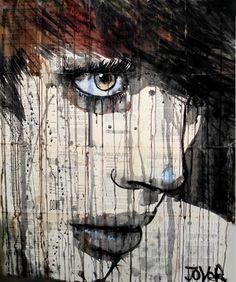 This amazing original hangs in our theatre, waiting for another to hang next to her - Artist Loui Jover