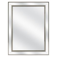 139.00 Home Decorators Collection 20 in. W x 26 in. H Fog Free Framed Recessed or Surface-Mount Mirror on Mirror Bathroom Medicine Cabinet