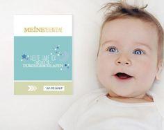 JETZT bei DaWanda vorbeischauen!  Baby- & Geburtskarten - Meilenstein Babykarten - ein Designerstück von henny&friends.