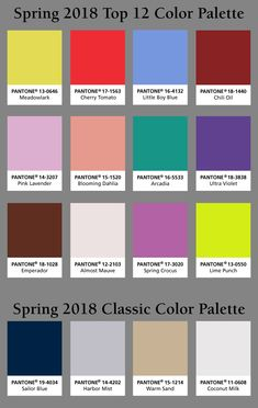 Pantone Spring 2018 color palette! Which #pantone color is your favorite?-Homemakers Furniture