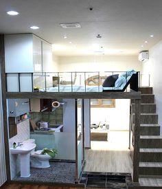 K k Evlerde Ek Kat ile Yer Kazan m na 15 Ba ar l rnek - Farkl Farkl Tiny House Loft, Modern Tiny House, Tiny House Plans, Tiny House Design, Loft Spaces, Small Spaces, Bedroom Decor For Small Rooms, Loft Interiors, Loft Design