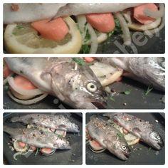 GEBACKENE GEFÜLLTE FORELLE Rezept: http://babsiskitchen-foodblog.blogspot.de/2015/07/gebackene-gefullte-forelle.html